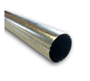 Ribbed steel tube, 17 mm dia.