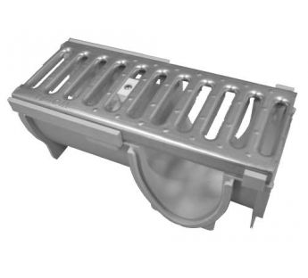 Corner connector to the linear drainage system Wolfa 100/10 V
