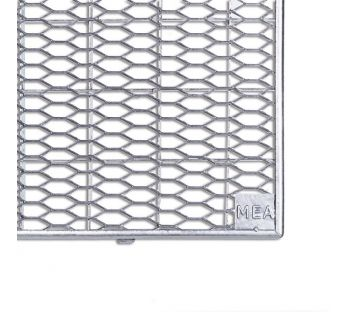 Mesh grating for MEA light wells