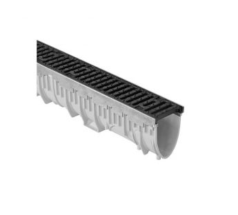 Linear drainage system MEARIN PLUS 100 with ductile iron grating C250 or D400