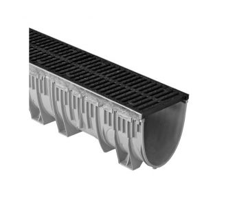 Linear drainage system MEARIN PLUS 200 with a ductile iron grating C250 or D400
