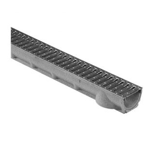 MEALINE S linear drainage system with a slotted grating
