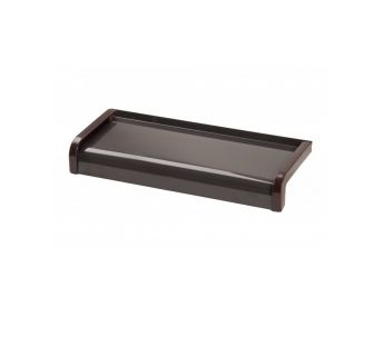 Aluminium window sill Softline- Brown RAL 8019