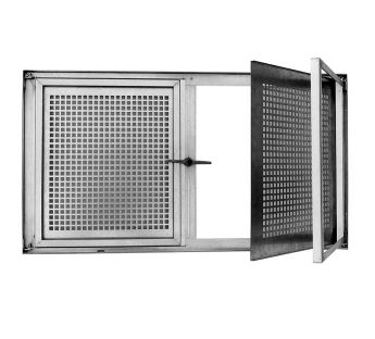 Double-casement galvanized basement window SD2