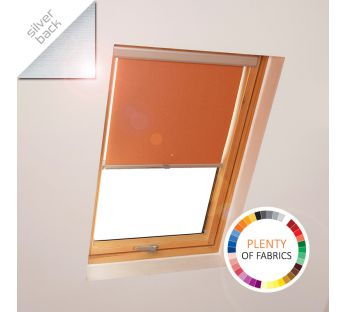 Simple solar reflective skylight roller blind