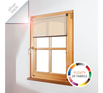 Free-hanging solar reflective roller blind MINI