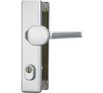 Exterior door fitting ABUS HLZS 814 with a cylinder cover – rectangular with a pull/lever handle