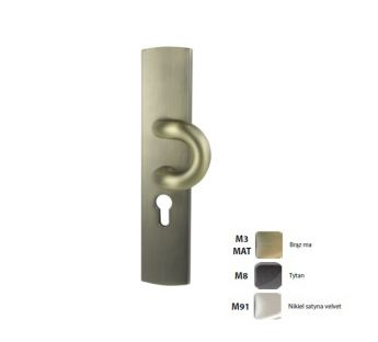 Exterior door lever handle with a pull Fokus K+P