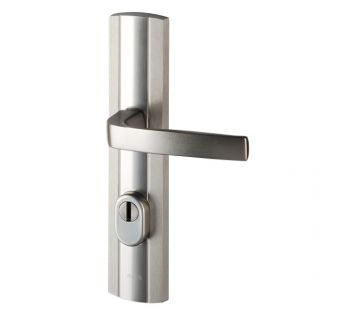 Exterior door lever handle Prestige K+K with a cylinder cover