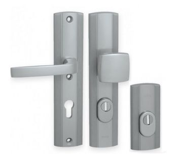 Exterior door lever handle-knob  Prestige K+G with a cylinder cover