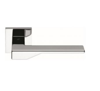 Lever door handle on a square rose Dea Colombo Design