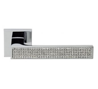 Lever door handle on a square rose 019 Zen Mesh Linea Cali