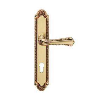 Lever door handle on a backplate Sissi Linea Cali