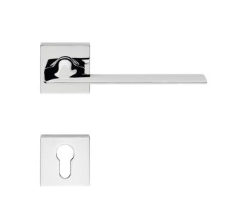 Lever door handle on a square rose 019 Jet Linea Cali