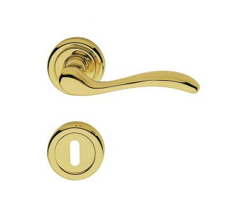 Lever door handle on a round rose 103 Onda Linea Cali