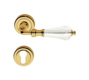 Lever door handle on a round rose 103 Veronica Linea Cali