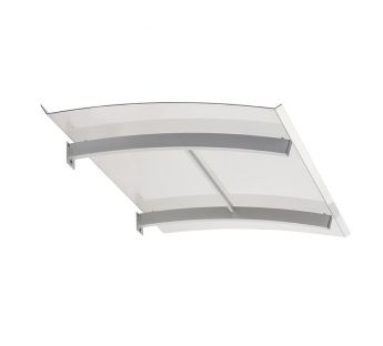Flat Door Canopy SMART 140 x 90 cm - Solid Polycarbonate