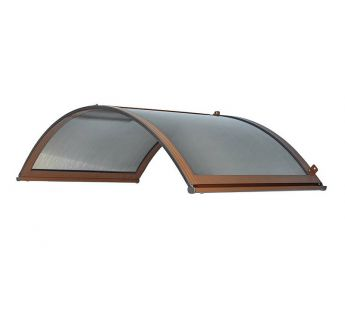 Arch Door Canopy Classica 200 x 90 x 48 cm,  Cellular Polycarbonate