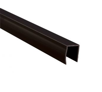 PVC convex guide rail, brown