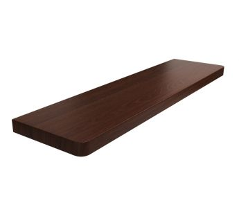 Laminated MDF window sill, Dark Walnut series M