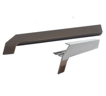 Aluminium caps for external aluminium tile standard window sills