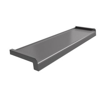 Softline Veneered steel window sill, Graphite