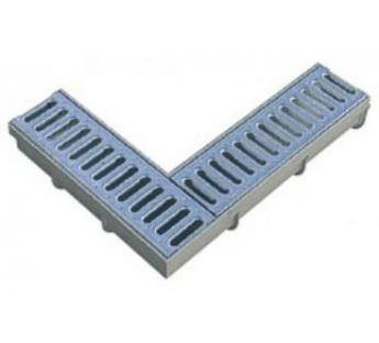 90° corner connector to the linear drainage system  Wolfa 100/8,5S