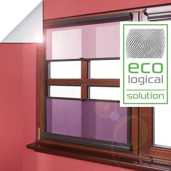 Solar reflective roller blinds