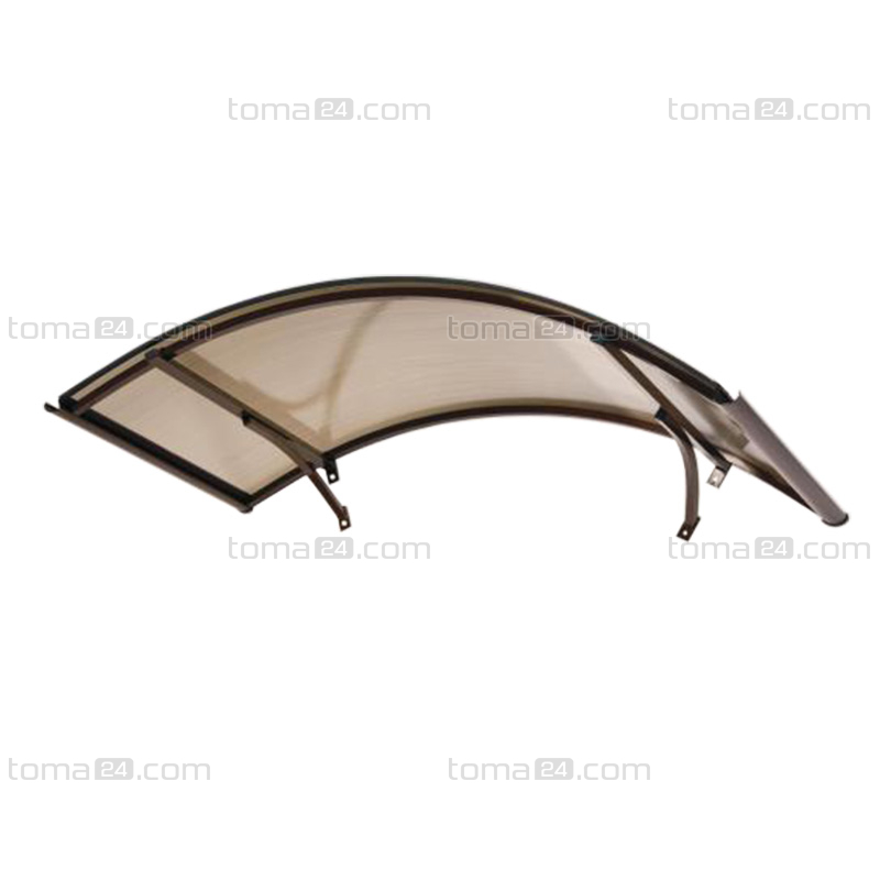 Arched Glass Door Canopy
