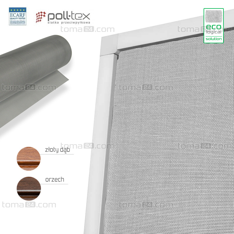 Poll-tex door fly screen - Anti-Allergic Wood-like