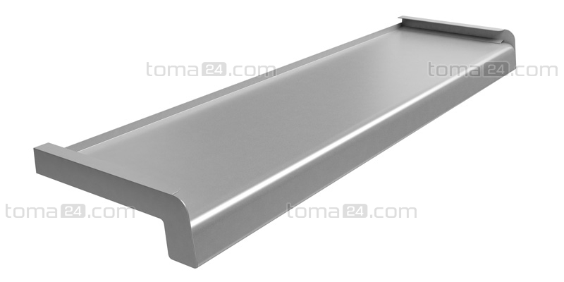Softline Steel Window Sill Silver Ral 9006 Toma24 Com