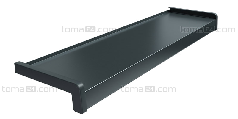 aluminium window sill standard anthracite ral 7016. Black Bedroom Furniture Sets. Home Design Ideas